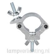 Buisklem Compact 32 mm Zilver