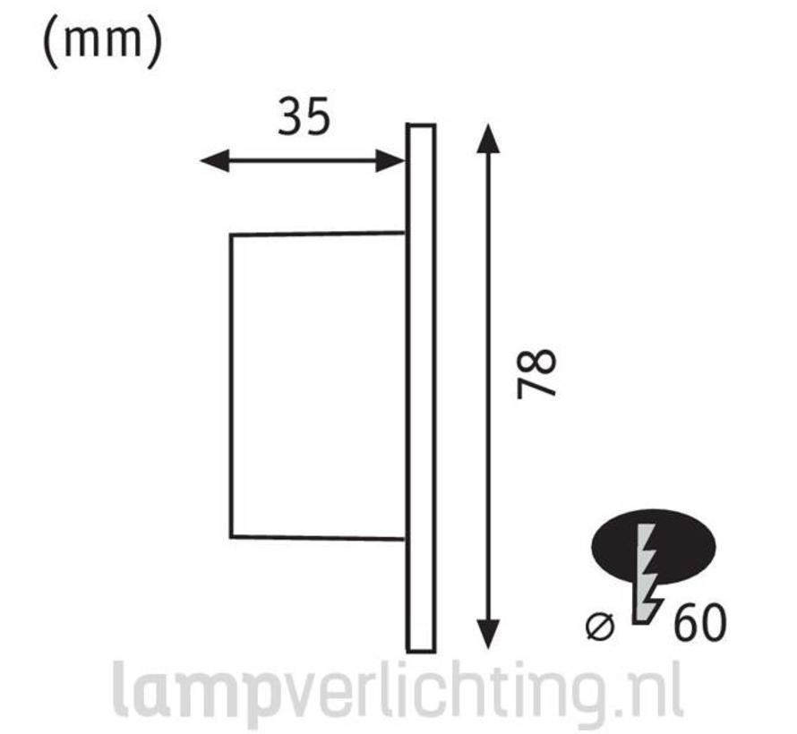 Wand Inbouwspots voor Inbouwdoos 230V RD - Set