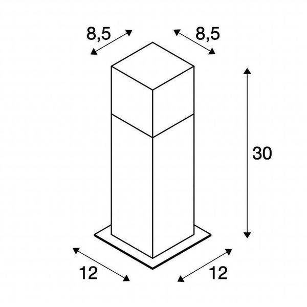 Buitenarmatuur Staand Antraciet Vierkant 30 cm