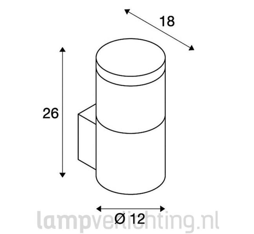 Wandlamp Buiten E27 Lamellen