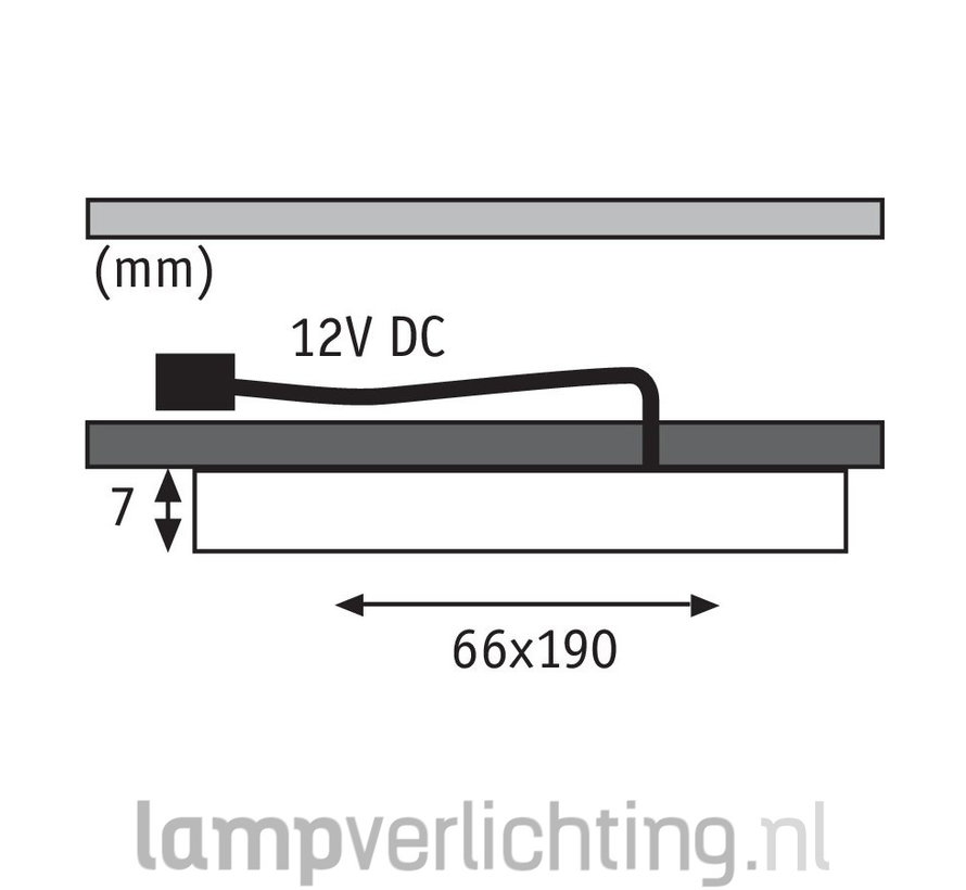 LED Meubelverlichting Plat 7mm - Set
