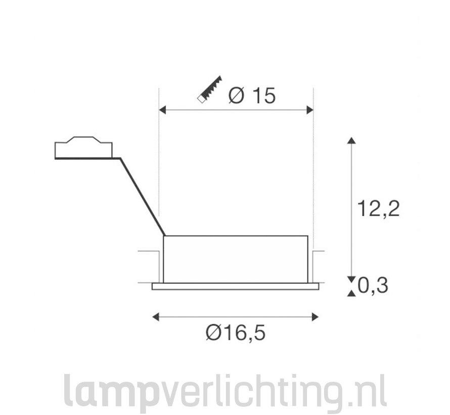 Inbouwspot Groot Rond Kantelbaar ES111