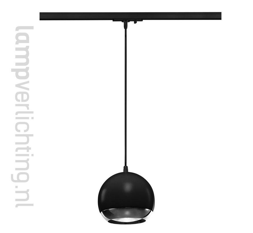1-Fase Rail Hanglamp Retro Bol 15cm