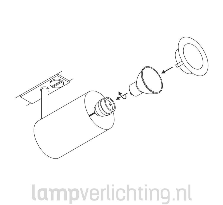 Railspot GU10 Cilinder 1-Fase