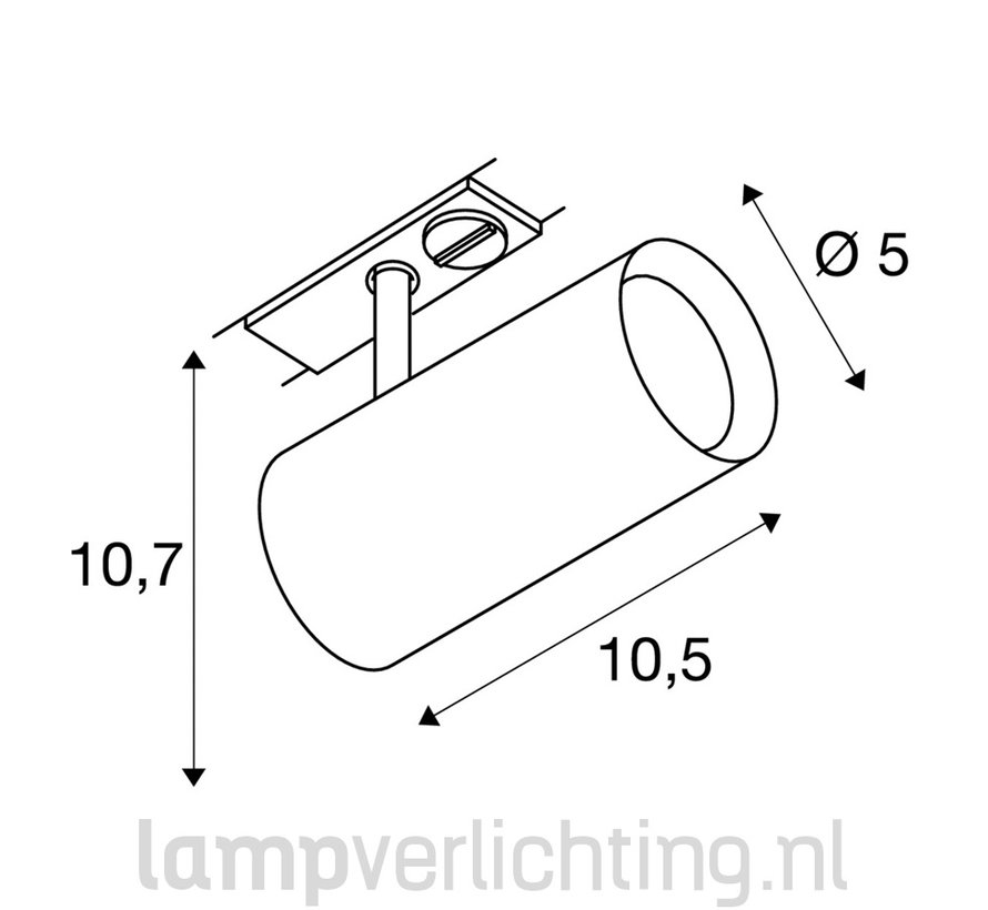 Railspot LED 7W 1-Fase