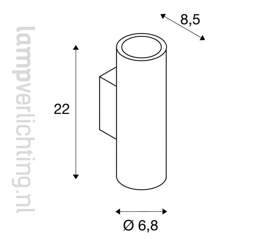 Wandspot Cilinder Up Down GU10