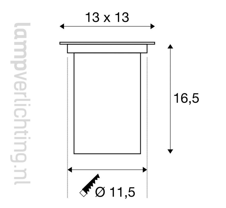 Grondspot GU10 Vierkant Verstelbaar