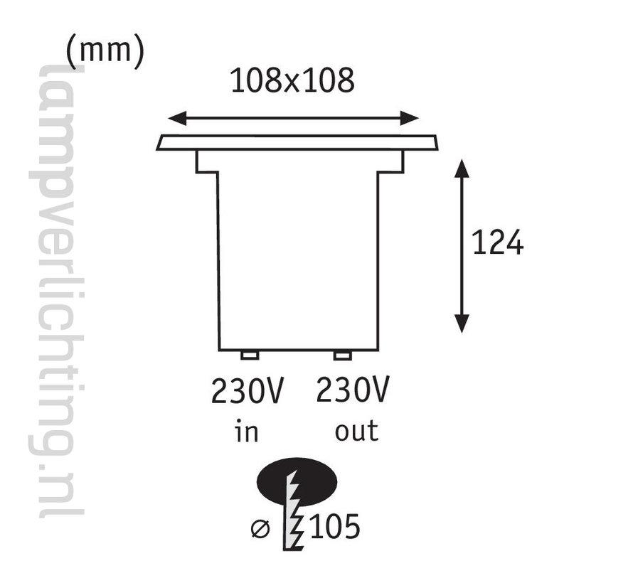 Grond Inbouwspot GU10 Vierkant