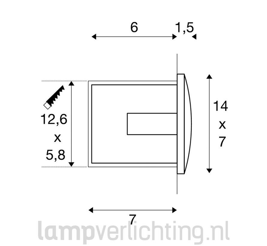 Wand Inbouwspot LED Buiten Muur 14x7 cm
