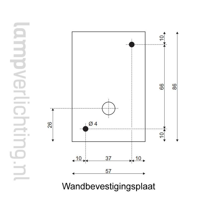 Wandspot Up Down Vierkant GU10