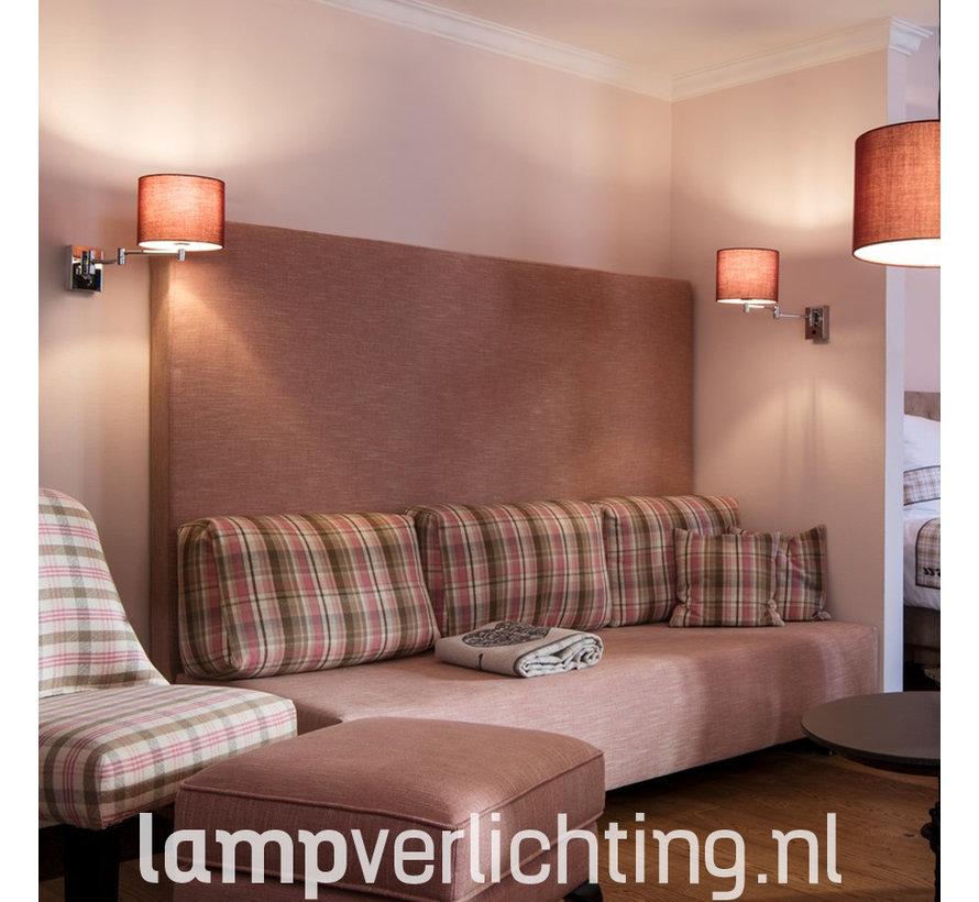 Wandlamp Uittrekbaar Hotel E27