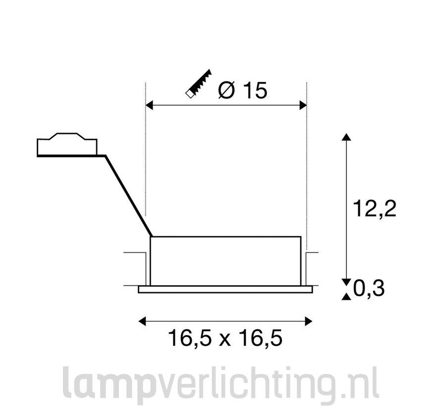 Inbouwspot Groot Vierkant Kantelbaar ES111