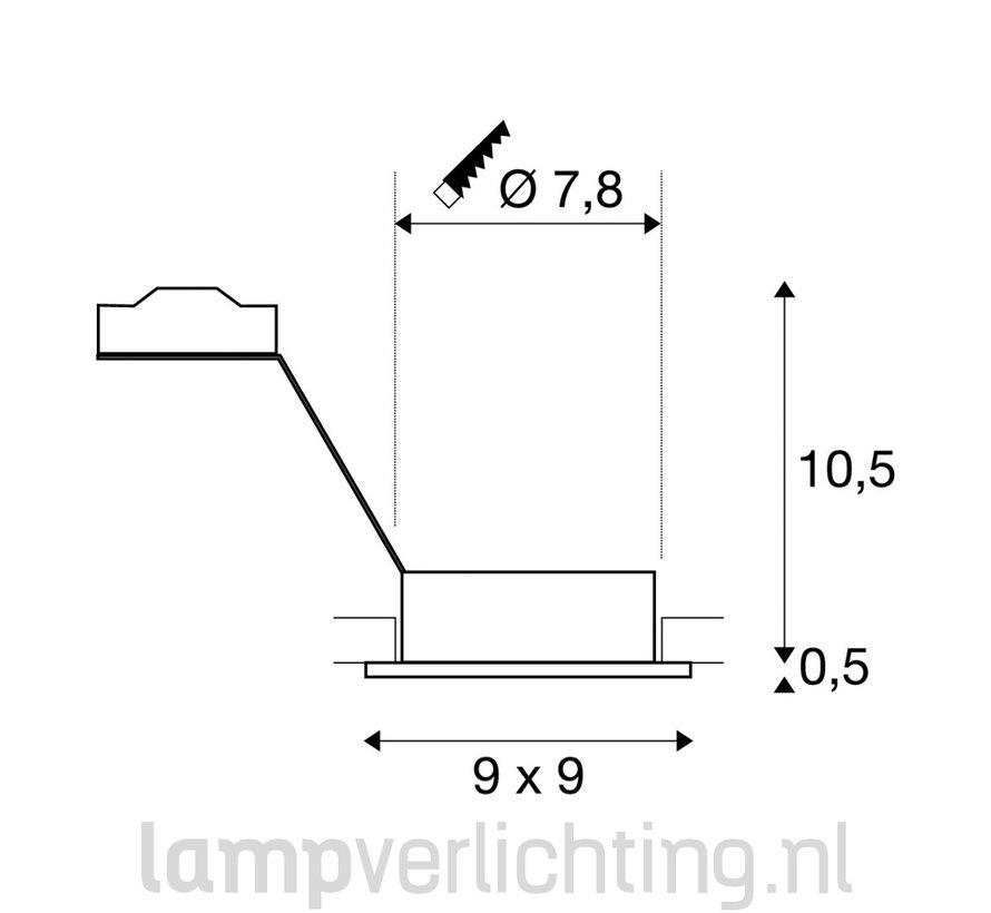 Inbouwspot GU10 Vierkant Verstelbaar