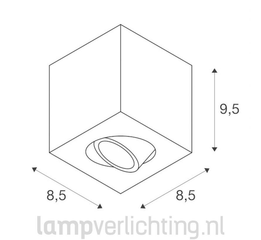 Opbouwspot GU10 Vierkant Verstelbaar