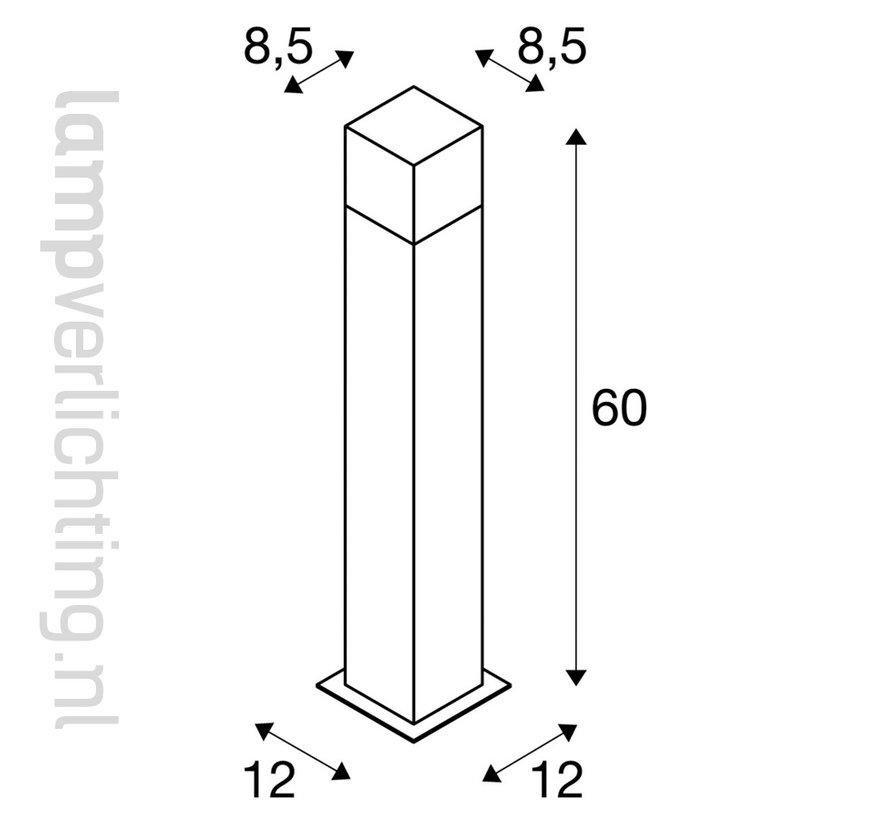 Buitenarmatuur Staand Antraciet Vierkant 60 cm