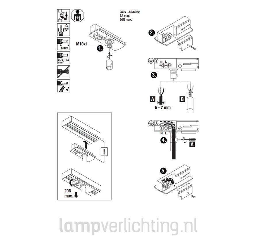 1-Fase Rail Pendeladapter
