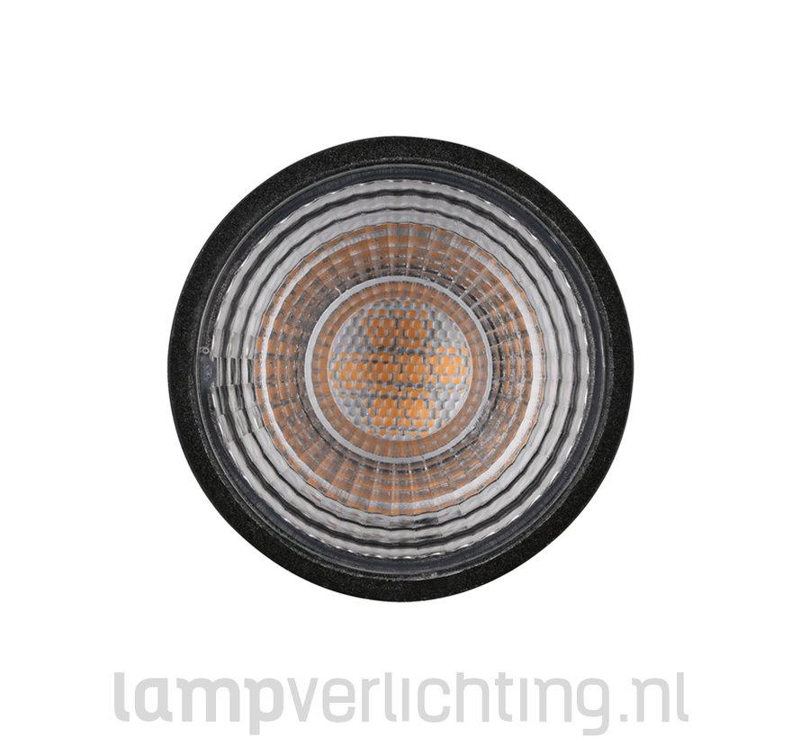 LED GU10 Zwart Dimbaar 7W