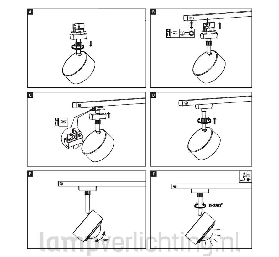 Lux Railspot Kogel LED 9W