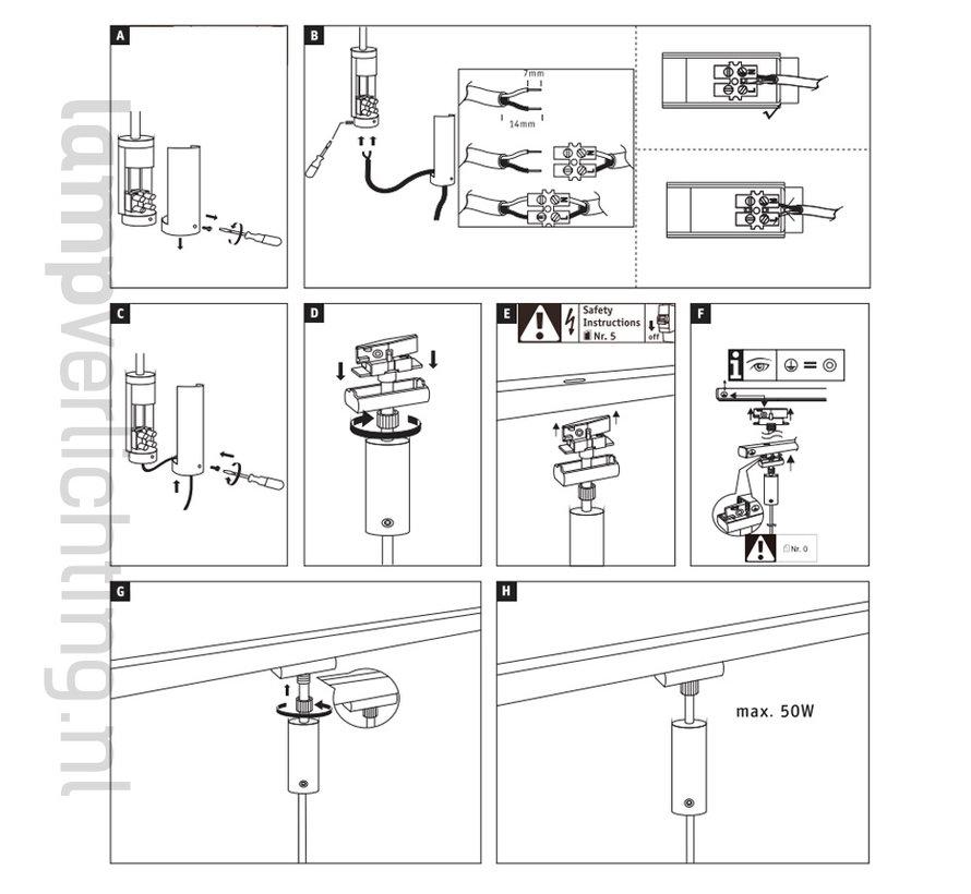 Lux Rail Pendeladapter