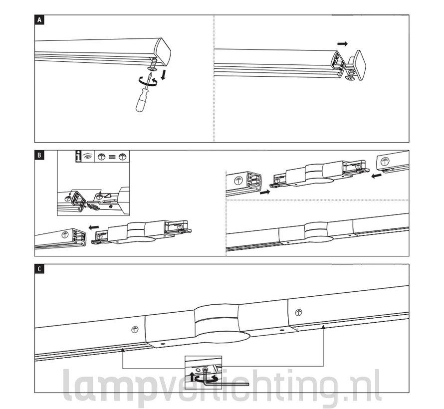Lux Rail Hoek Verbinder