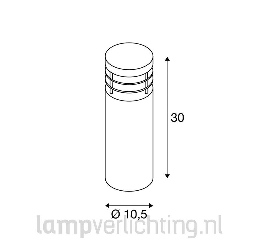Rvs buitenverlichting 30 cm