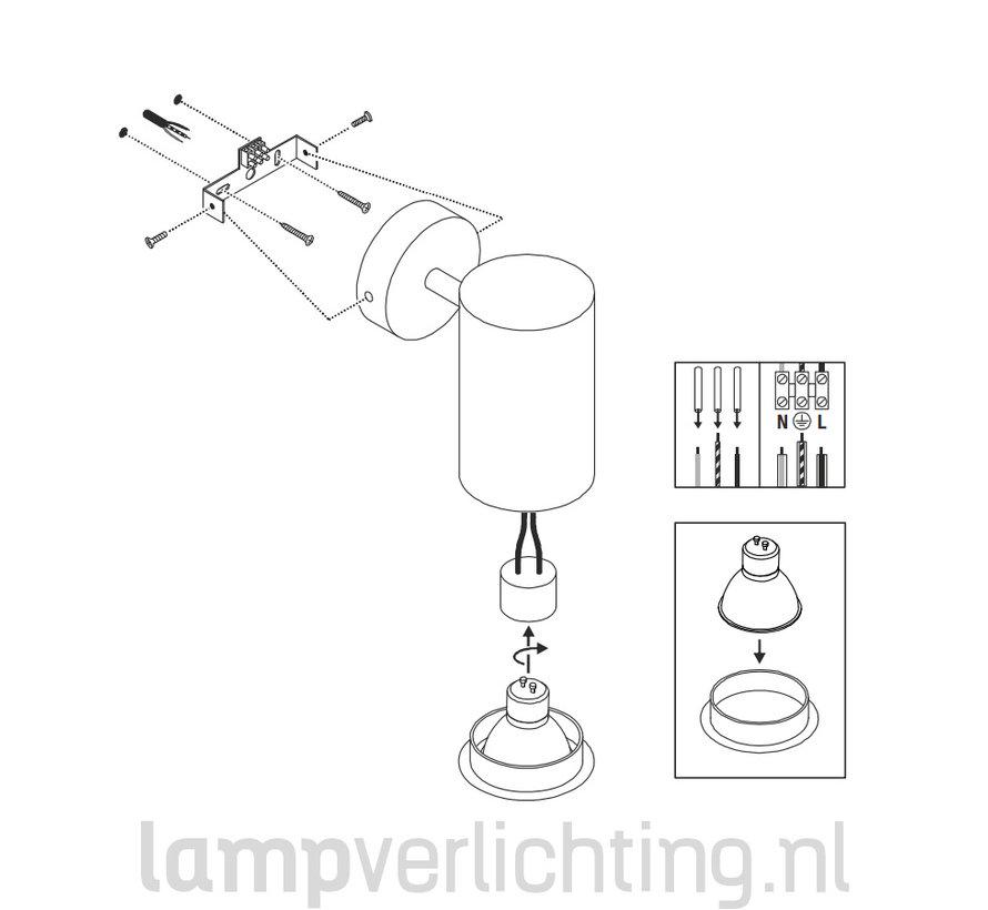 Spot Opbouw GU10 Cilinder