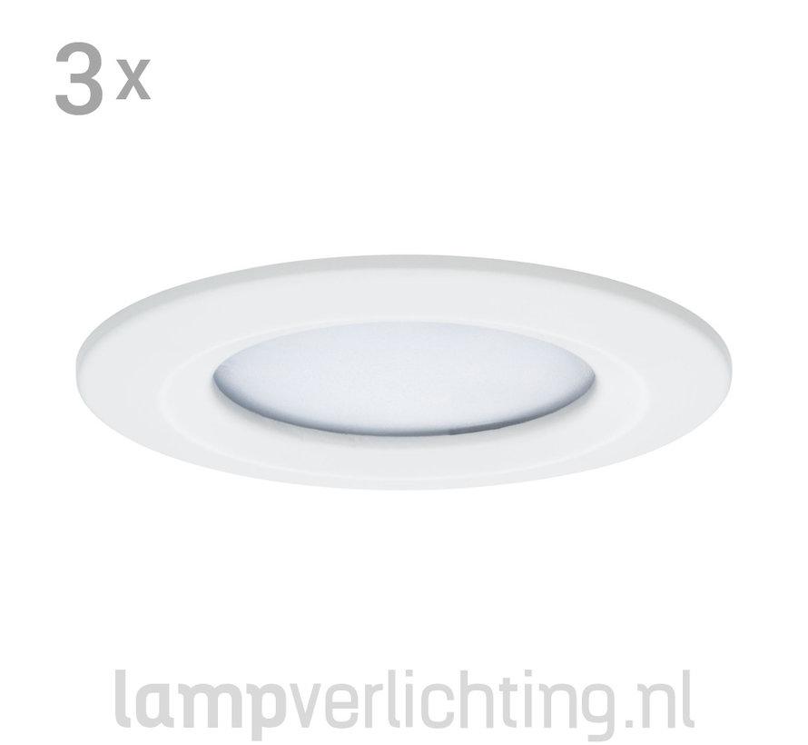 3 Dimbare LED Inbouwspots 230V Rond IP44