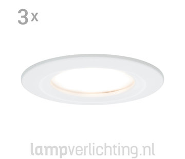 3 Dimbare LED Inbouwspots 230V Rond IP44