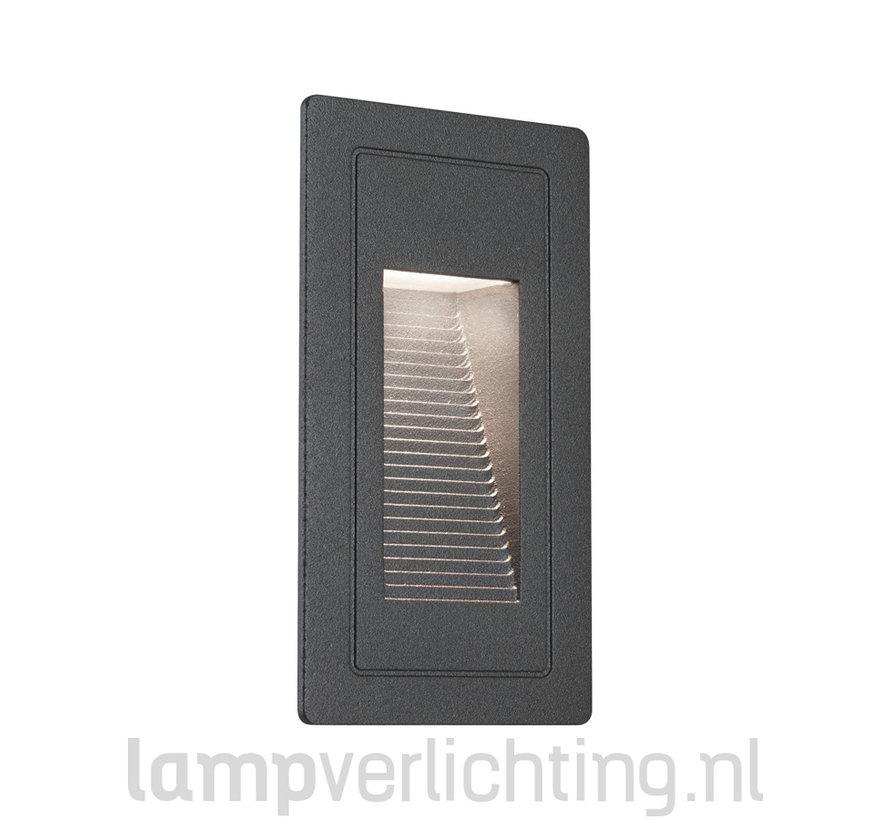 Wand Inbouwspot IP44 Hoog LED 4W