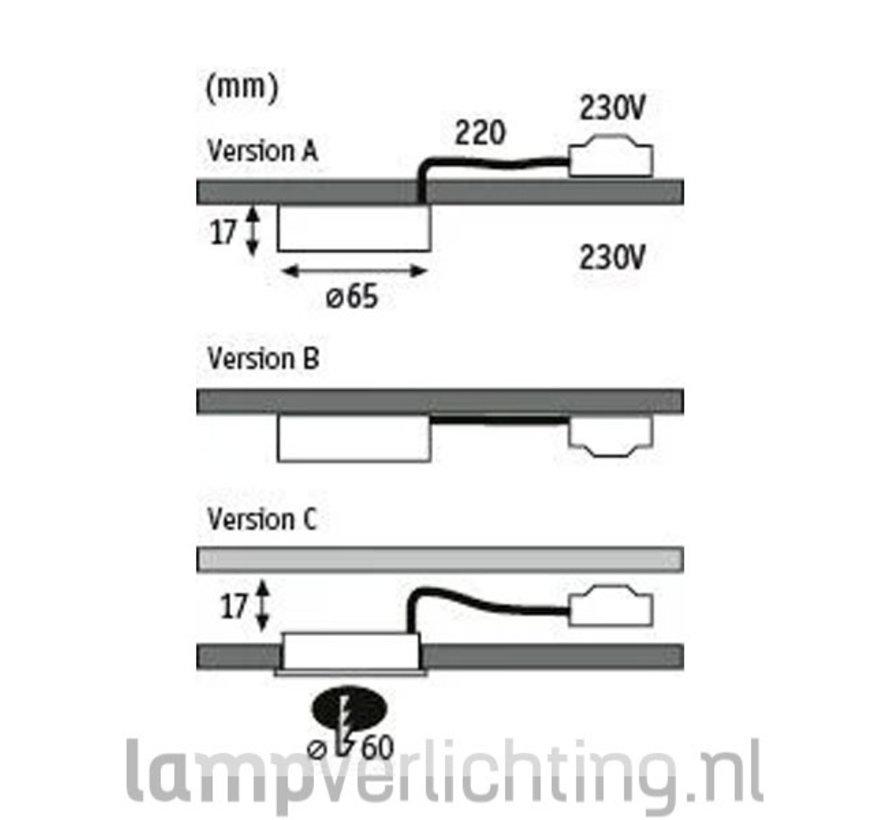Meubelspots inbouw opbouw LED 230V
