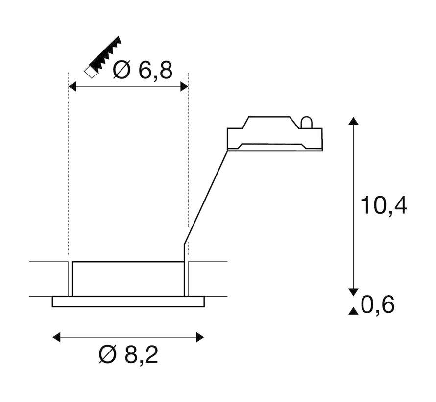Inbouwspot GU10 Waterdicht IP65 Rond