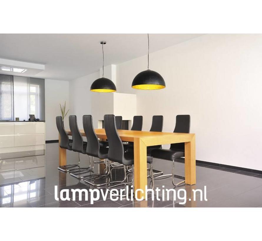 Hanglamp Dome XL zwart-goud