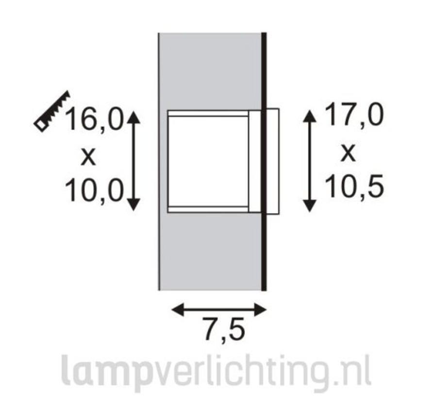 Muur Inbouwspot Buiten LED 1,4W