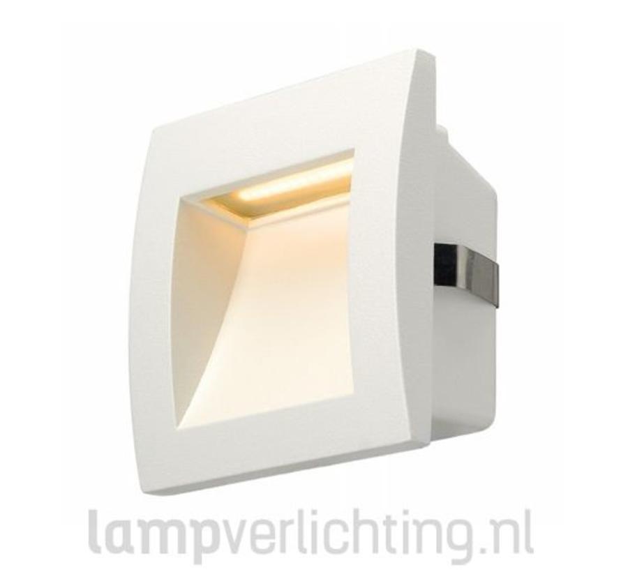 Wand Inbouwspot LED Buiten Vierkant 9x9 cm