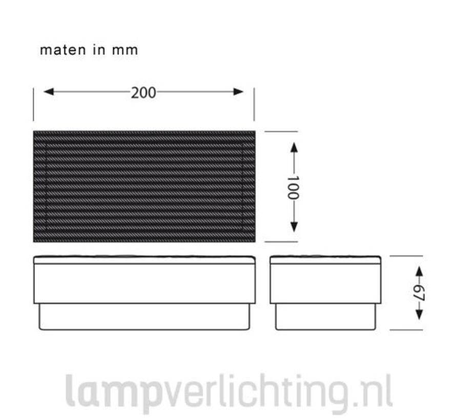 LED Tegel Steen 10x20 cm