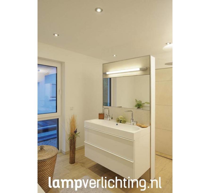 LED Spiegellamp 90 cm IP44 Chroom