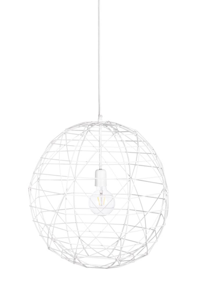 Bodilson FIREBALL  hanglamp  white/black