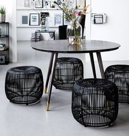 House Doctor STOOL MODERN black