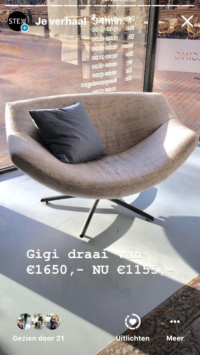 Label Van Den Berg GIGI  draaifauteuil