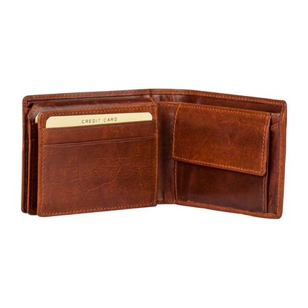 Burkely portemonnees Heren portemonnee bruin Burkely 31.04.27 C