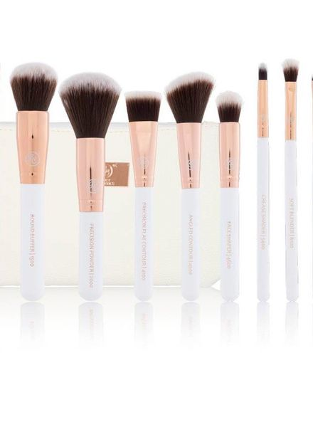 Boozy Cosmetics Boozy Cosmetics Rosé Gold Sculpt & Blend Brush Set 10pcs
