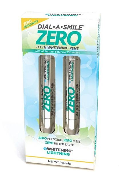 WhiteningLightning Dial a Smile ZERO Teeth Whitening Pen Duo