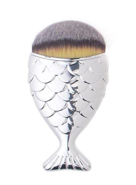 Mermaid Salon - Original Chubby Mermaid Brush - Silver