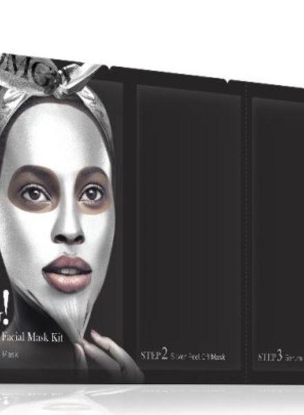 double dare OMG! Platinum Silver kit de masques pour le visage