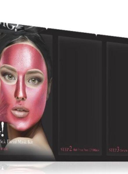 double dare OMG! Platinum Hot Pink kit de masques pour le visage