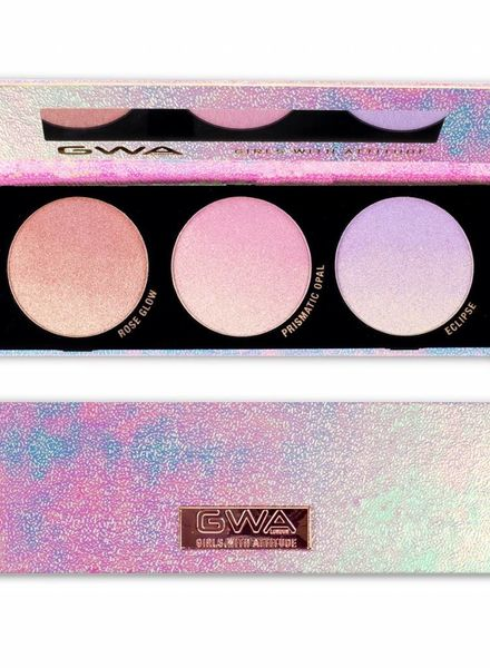 GWA Cosmetics GWA Galactic Glow Ombré Highlighter