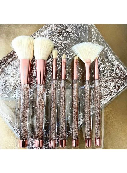 Boozy Cosmetics Boozyshop Liquid Glitter Brush Set Rose Gold