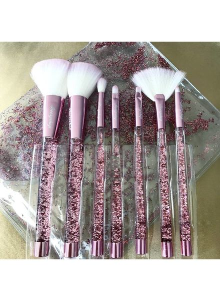 Boozy Cosmetics Boozyshop Liquid Glitter Brush Set Pink