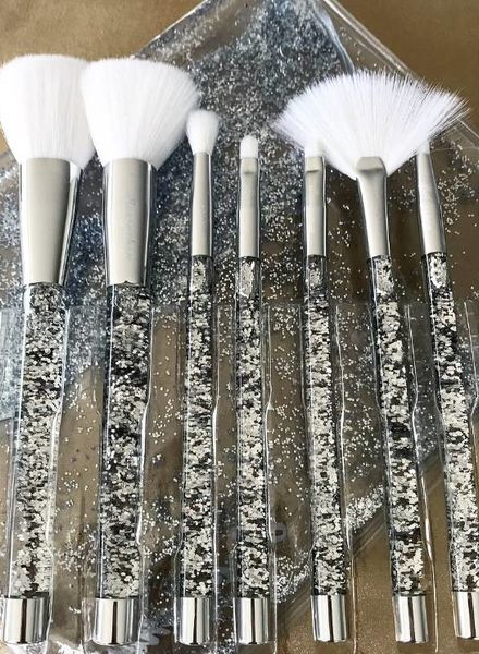 Boozy Cosmetics Boozyshop Liquid Glitter Brush Set Silver