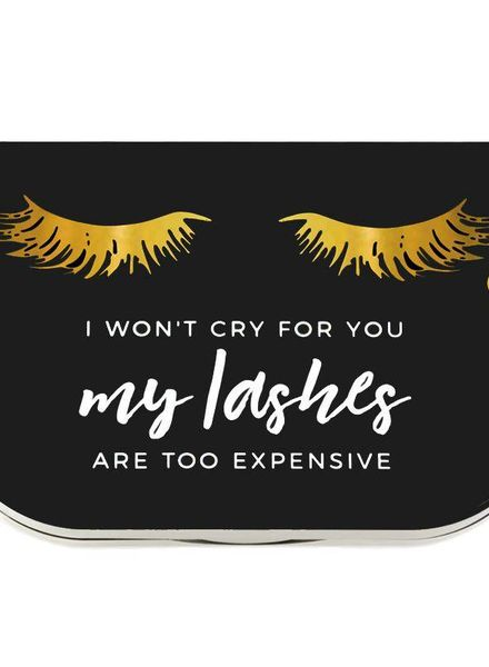 "Lilly Lashes Lilly Lashes ""I won't cry for you"" lash case"